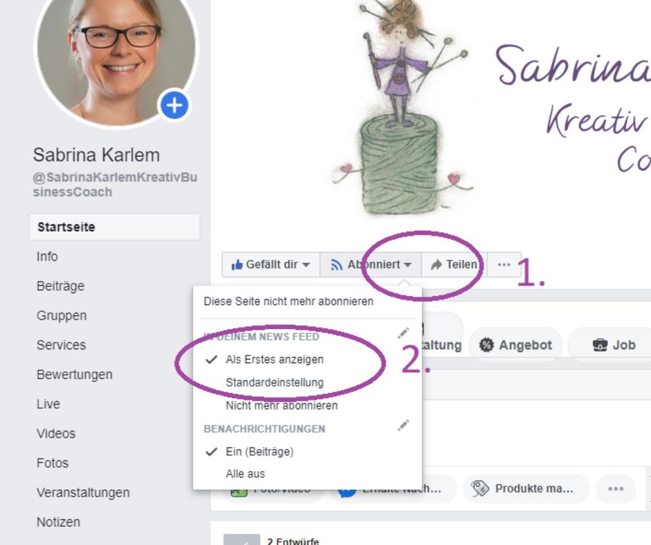 Facebook Algorithmus von Facebook verändern.